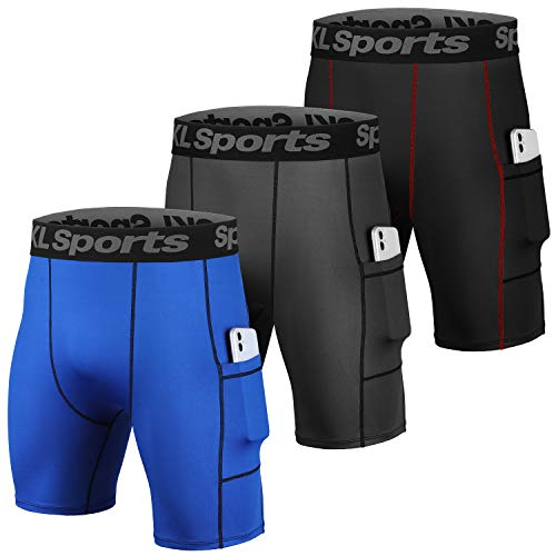 SKL Men's Compression Shorts Pants Sports Baselayer Tights Workout Underwear