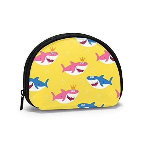 Monedero pequeño con diseño de tiburón para bebé para Mujer, Bonita Bolsa para Monedas para niña, Bolsa de Almacenamiento, Bolsa de Concha, Cartera