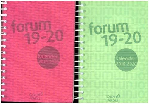 Schülerkalender 2020/2021 Forum Office Linicolor DIN A5: Schülerkalender A5 mit Doppelspirale & Gummizug