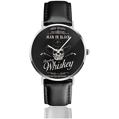 Unisex Business Casual Man In Schwarz Bourbon Whisky Westworld Uhren Quarz Lederuhr
