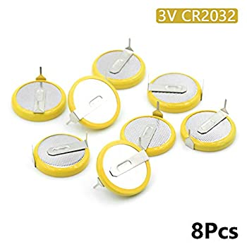 Battery CR2032 3V 2 Tabs Coin Cell for Main Board Toy Electronic Scale 8Pcs