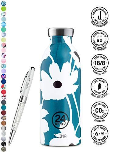24 Bottles Trinkflasche Clima 330 ml | 500 ml | 850 ml versch. Farben inkl. Lieblingsmensch Kugelschreiber, Größe:500 ml, Farbe:Velvet Magnolia