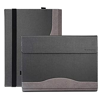 xisiciao Microsoft Surface Book 3 2020/2 Protective Case Detachable Waterproof Folio Sleeve Compatible with Keyboard 15 Inch Grey .