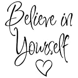 Varadyle Frase Believe in Yourself Etiqueta de la Pared de la Sala de Estar de la HabitacióN de los NiiOs DecoracióN de Papel Tapiz Impermeable ExtraíBle