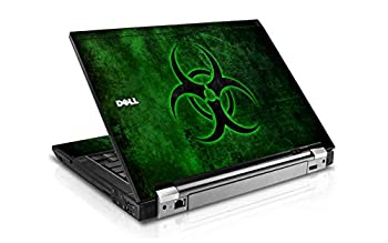 LidStyles Vinyl Protection Skin Kit Decal Sticker Compatible with Dell Latitude 6410  Green Biohazard