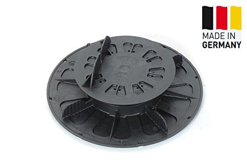 Pied pivotant pour bois WPC ALU Pieds réglables Terrassenfüße Fundament 120 pièces (1 carton) réglage en hauteur 27-40 mm