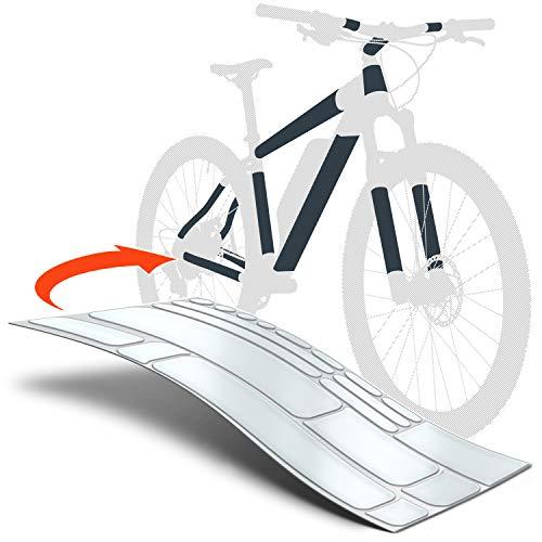 Luxshield E Bike Lackschutzfolie für eBike, Pedelec, Elektro Fahrrad, E-Bike, MTB etc. - 20-teiliges Rahmen-Set gegen Steinschlag - Matt & selbstklebend