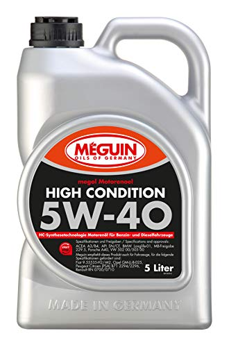 Meguin 3198 Megol Motoröl High Condition SAE 5W-40, 5 L