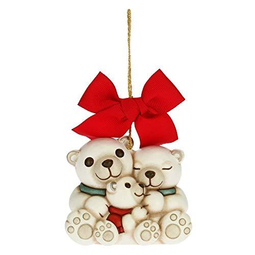 Scopri offerta per THUN - Addobbo per Albero di Natale, Famiglia Orsi Polari - Decorazioni Natale Casa - Formato Maxi - Ceramica - 7,8 x 5,5 x 6,8 h cm