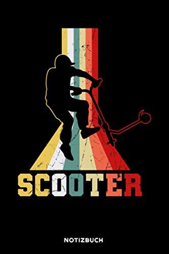 Scooter: Notizbuch für Tretroller Fahrer   liniert   120 Seiten   ca. A5 Format (15.24cm x 22.86 cm)