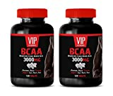 Muscle Growth Vitamins - BCAA - BRANCHED Chain Amino Acid 3000 MG - bcaa for Weight Loss for Men - 2 Bottles 240 Tablets