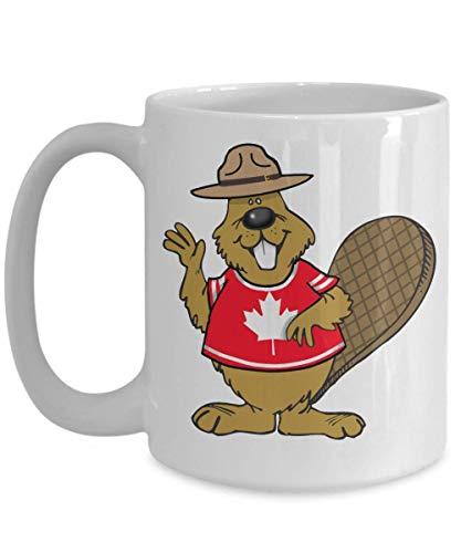N\A Taza de Regalo de café de Castor Canadiense - Ciudadanos visitantes de los Amantes de Canadá o Taza de cerámica