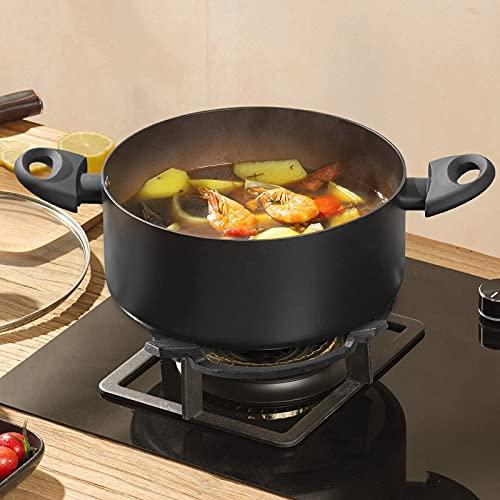 XQK Universal Soporte para Wok Hierro Fundido Cocinas Gas, Estufa De Gas Moldeada Wok Soporte, Hierro Fundido Estufa Accesorios para Quemadores, Cocinas De Gas, Cocinas, Suministros Cocina