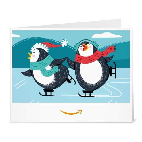 Amazon.de Gutschein zum Drucken (Pinguin Eislaufen)