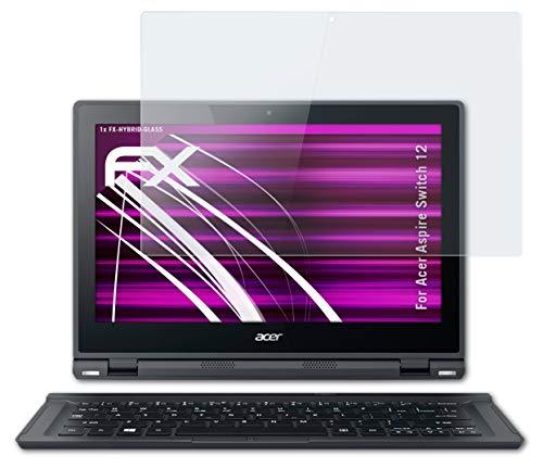 atFolix Glasfolie kompatibel mit Acer Aspire Switch 12 Panzerfolie, 9H Hybrid-Glass FX Schutzpanzer Folie