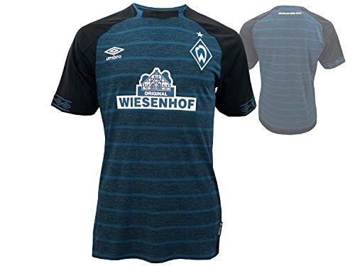 UMBRO Herren Werder Bremen Away SS Jersey, schwarz, XXL