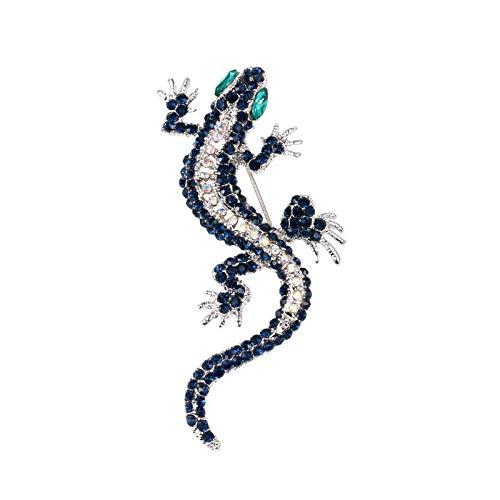 COLORFULTEA 1 Pieza De Broches De Lagarto De Cristal Retro para Mujeres Y Hombres, Ropa Vintage, Disfraz, Vestido, Gecko, Forma De Animal, Regalo De Fiesta