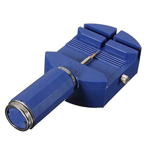 Kit de reparación de relojes Enlace para correa de ranura pulsera cadena pin removedor ajustador herramienta de reparación 28mm para hombres y mujeres reloj