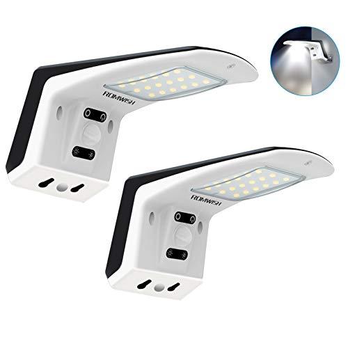 Solarlampen für Außen,Superhelle LED Solarleuchte mit Bewegungsmelder Sicherheit Wandleuchte IP65 Wasserdichte Solar Wandleuchte,[1500mAh] Solarlicht für Garten [2 Stück]