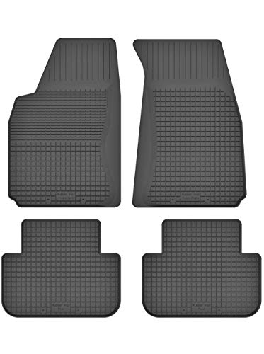 Gummimatten Fußmatten 1.5 cm Rand geeignet zur Subaru Forester II (Bj. 2002-2008) ideal angepasst 4 -Teile EIN Set