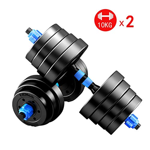 Summerone Dumbbells Pairs 3-44 lbs Adjustable Dumbbell Weight Set Barbell Lifting with 2 Connector...