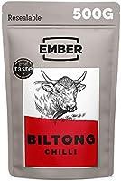 Ember Biltong Grootverpakking - Beef Jerky - Eiwitrijke Snack - (2x250g) (Chilli)
