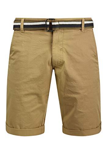 Blend Bruno Herren Chino Shorts Bermuda Kurze Hose Mit Gürtel Regular Fit, Größe:L, Farbe:Sand Brown (75107)
