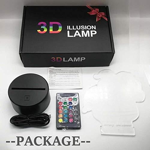 Yeager 2021 NEW 3D luce notturna in titanio per camera da letto dei bambini, decorazione della luce, tavolo di cambiamento, lampada da notte con attacco al titanio regalo ZGLQ 7 spesavip