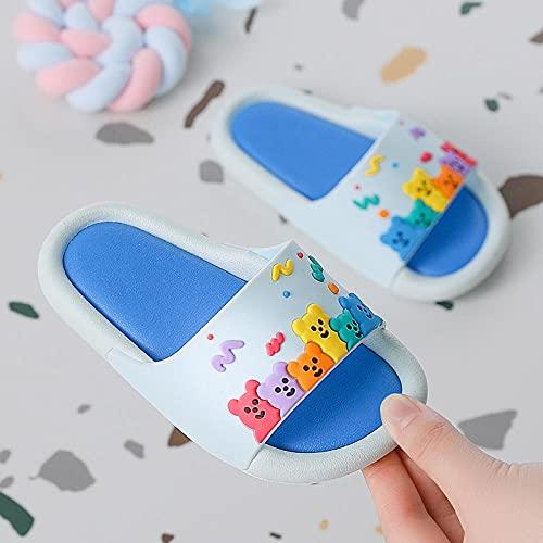 zuecos cross mujer,Padres y niños Sandalias y zapatillas, niños usan dibujos animados lindo baño playa sin deslizamiento Flip-flops fuera de casa-26-27 (Longitud 16.5cm es adecuado para 3-4 años)_zaf
