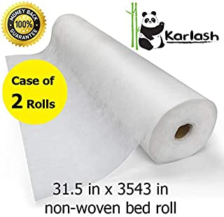 Karlash Disposable Non Woven Bed Sheet Roll Massage table paper roll 30gms Thick (Pack of 2)