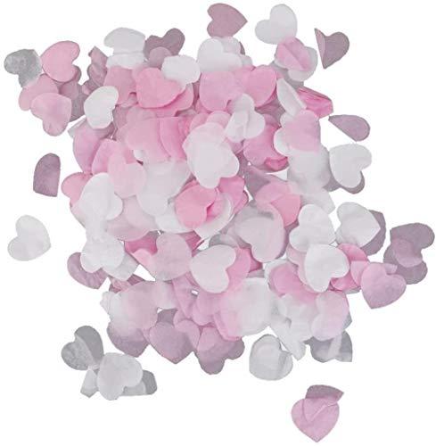 CWT Spielzeug Toy Mini Papier Liebe HerzenConfetti Hochzeit Dekoration 15g / Packung Weiß Hellrosa White + Hellrosa Spielzeug