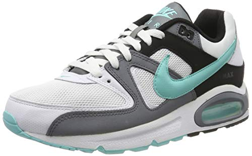 Nike Herren AIR MAX Command Laufschuhe, Weiß (White/Aurora Green/Cool Grey/Black 110), 43 EU