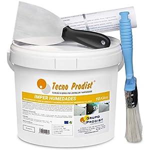 IMPER HUMEDADES de Tecno Prodist – (10 Kg) Mortero para revestimiento de Impermeabilización. Tratamiento humedades muros, sótanos, etc. Impermeable al agua, fácil de usar.