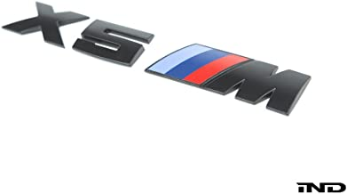 IND Matte Black Painted Trunk Badge For BMW E70 X5 M