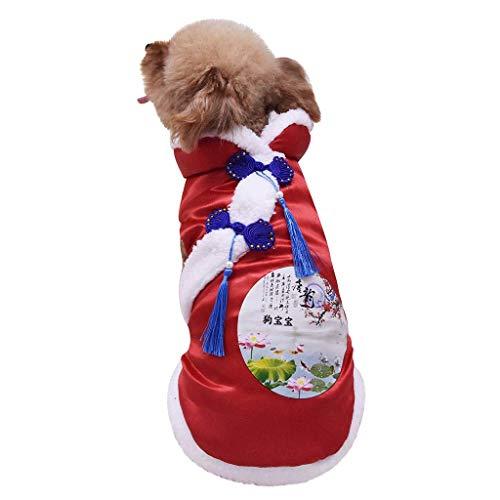 Vest retro hond Chinese stijl dangpak outfit kostuum veel sprankelend kostuum warme mantel jassen teddy corgi dangkostuum katoen