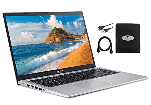 2021 Newest Acer Aspire 5 15.6' FHD Laptop, Intel Core i3-1115G4 (up to 4.1GHz), 8GB RAM 512GB NVMe SSD, WiFi 6 USB-A&C Webcam HDMI, Windows 10 S w/Ghost Manta Accessories