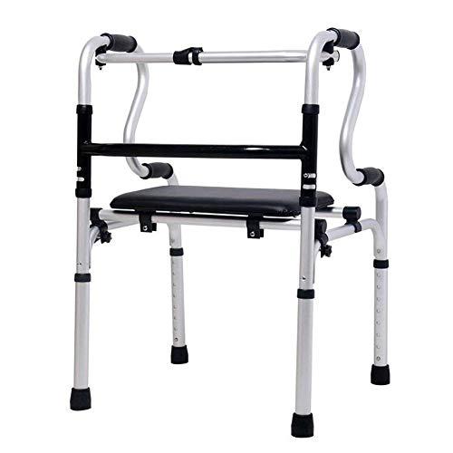 Gcxzb Muletas Mayores Silla Walker múltiples Funciones Bastón discapacitados bipedestador Antideslizante bastón con el Hospital, Mayor