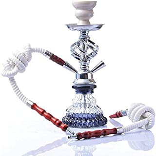Chulovs Premium 2 Hose Hookah Complete Set, Modern Shisha Hookah Kit with Hookah Accessories, Contain Instate Charcoal and...