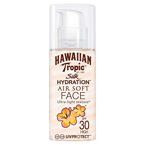 Hawaiian Tropic Silk Hydration Sun Lotion Air Soft Face Sonnencreme LSF 30, 50 ml, 1 St