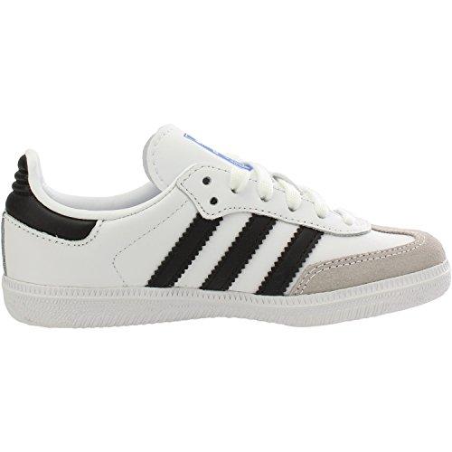 adidas Samba Og C, Unisex Kid's Fitness Shoes, White (Blanco 000), 1 UK (33 EU)