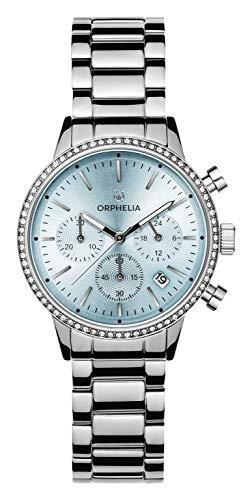 ORPHELIA Damen Chronograph Quarz Uhr mit Edelstahl Armband OR32803