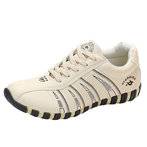 HDUFGJ Damen Trekking-& Wanderschuhe Atmungsaktiv Outdoor-Schuhe Freizeitschuhe rutschfeste Reiseschuhe Watschuhe Sneaker Leichtgewicht Laufschuhe Bequem Mode Faule Schuhe fitnessschuhe38(Beige)