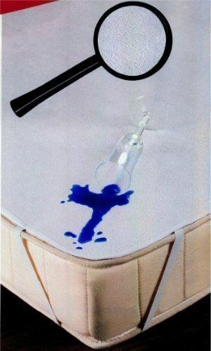 Merino Europa Wasserundurchlässige Frottee Inkontinenz Matratzenauflage, weiß ohne PVC (200 x 220cm)
