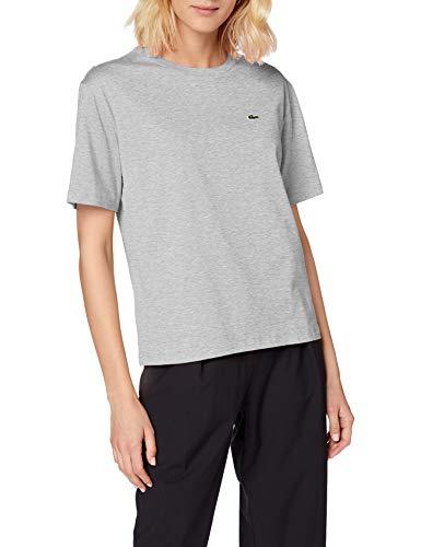 Lacoste Damen TF5441 T-Shirt, Argent Chine, 40