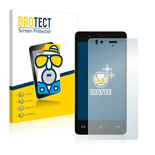 BROTECT 2X Entspiegelungs-Schutzfolie kompatibel mit BQ Aquaris E4.5 Bildschirmschutz-Folie Matt, Anti-Reflex, Anti-Fingerprint