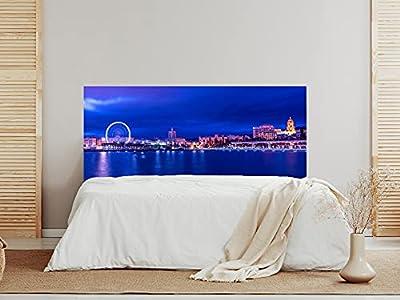 Cabecero fabricado en PVC de 5mm Cabecero de Cama impreso digitalmente en PVC. Cabecero ecónomico ideal para decoración de habitaciones Fabricación y envío en 24/48h.
