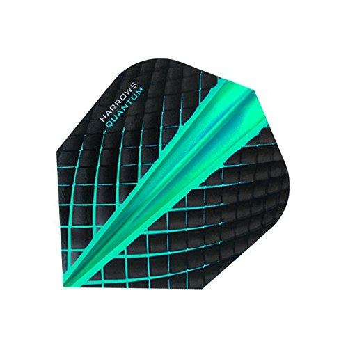 Harrows Quantum Dart-Flights 3D-Effekt – 100 Mikron – Standardform – Jade – 5 Sets (15 Stück)