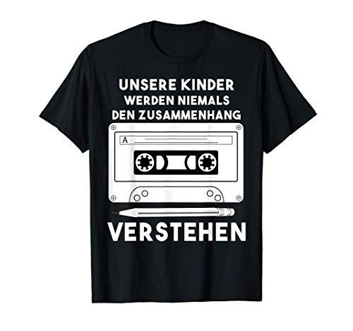 Bleistift Kassette   Retro 90er Jahre Tape Party T-Shirt