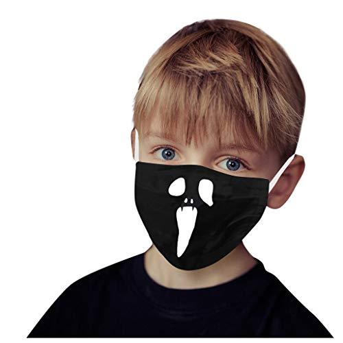 QJMY Kinder Multifunktionstuch | Sturmmaske | Bandana | Schlauchtuch Halstuch Wiederverwendbar Halloween Mundschutz Multifunktionstuch Motorrad für Staubschutz Lustige Zähne Muster Face Covering