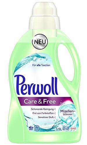 Perwoll Care & Free Waschmittel flüssig mit Mizellen-Wasser (2 x 1,5l)